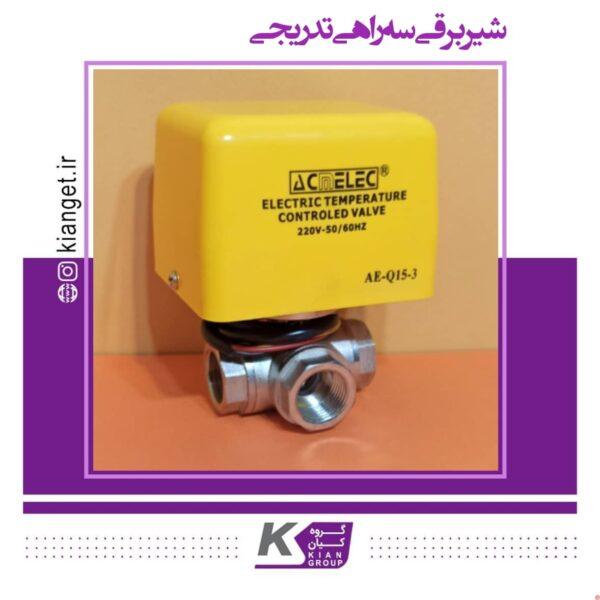 Gradual three-way solenoid valve